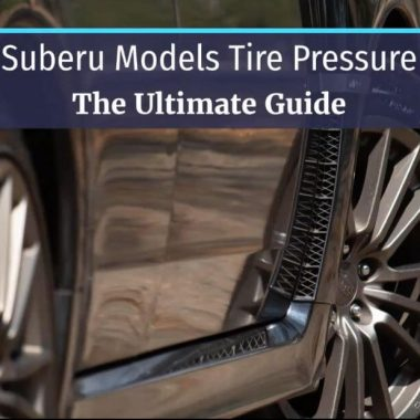 Recommended Suberu tire pressure