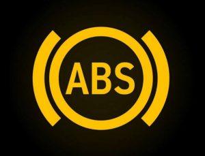 Anti lock breaking system dashboard warning symbols