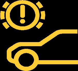 brake pad ware warning symbol