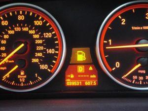 Empty or fuel guage indicator dash light