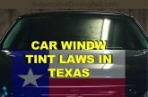 Window tint laws in Texas