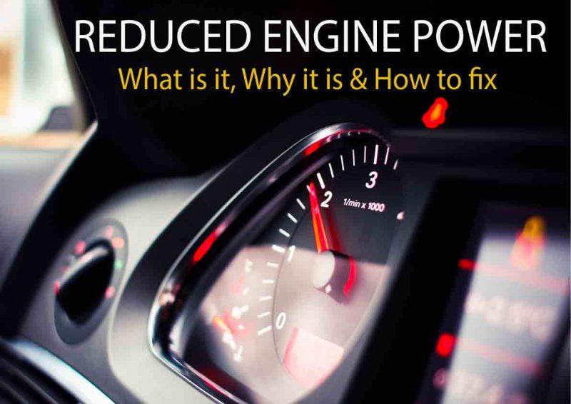 reduced engine power light on